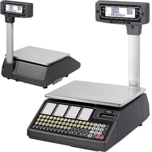 Imagen de balanza comercial de mostrador con torre e impresora