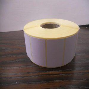 Imagen de rollo de etiquetas 43x30 cm, blancas.